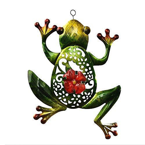 SH Frog Wall Decor Outdoor Indoor Metal Art Wall Ornament Hanging Metal Frog for Home Garden Bedroom, 13.3 x 10.2 Inch