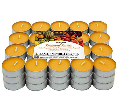 60 Teelichter Stück duftenden, Duftteelichter Duft tropische Früchte
