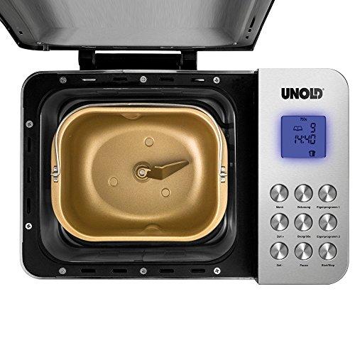 UNOLD Brotbackautomat Backmeister Edel, 550 W, 750-1000 g Brotgewicht, Keramik-Beschichtung, 68456 - 6