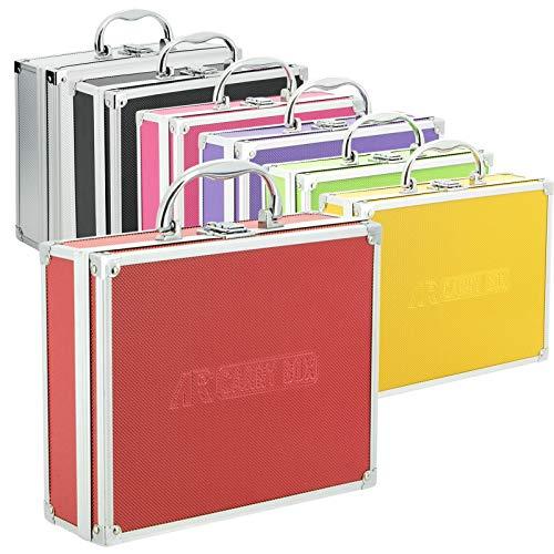 AR Carry Box® Kleiner Alukoffer Werkzeugkoffer Aluminium Koffer leer 260x210x80mm Farbe Rot