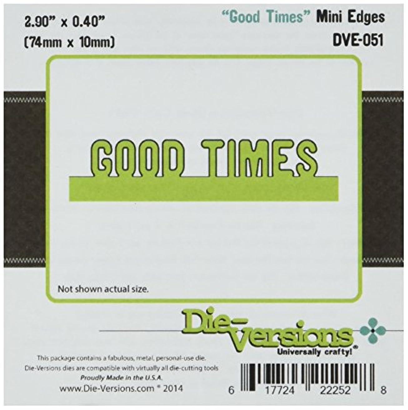 Die-Versions Express Edges Die Cuts, 2.9 by 0.4-Inch, Mini Good Times