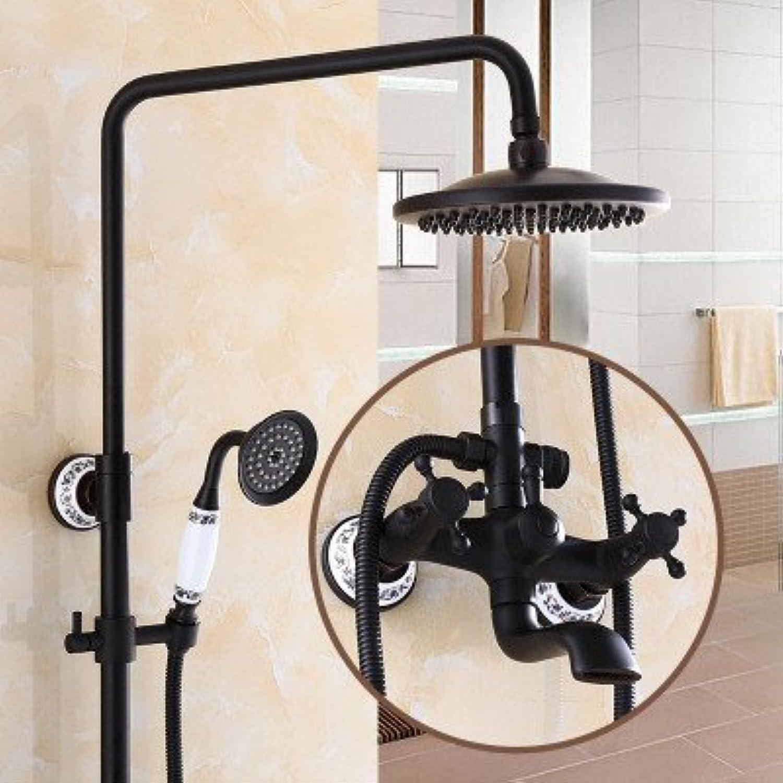 1949shop Heie und kalte Dusche im europischen Stil schwarz antike Hebedusche, Duschkopf, alle Kupfer Hebedusche