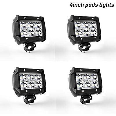 Led Work Light Bar 4 INCH 18W Led Spot Lights Fog Lights Waterproof IP67 Led Lights Driving Lamp