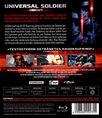 『Universal Soldier: Uncut / Digital Remastered』の1枚目の画像