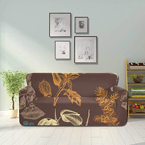 AQQA Colorfulful Spring Romantic Flower Sofa Couch Cover Living Room Couch Covers Fitted Furniture Protector 2&3 Seat Sofas
