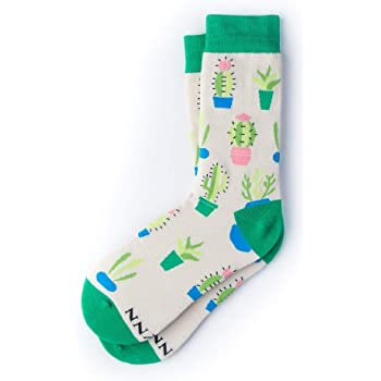"""""""Succy Succulent"""" Hipster Novelty Crew Carded Cotton Women's Socks (1 Pair)"""