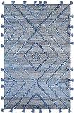 The Rug Republic Worgan - Alfombra (120 x 180 cm), color azul y...