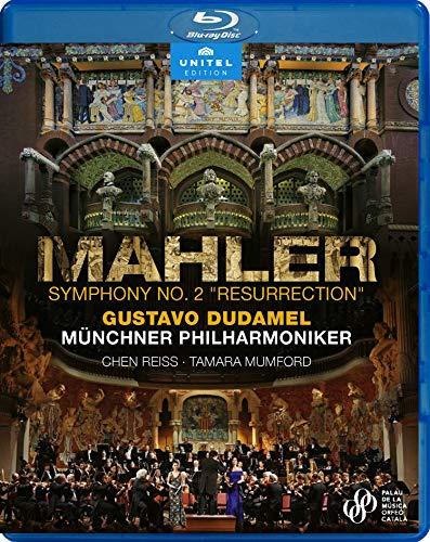 マーラー:交響曲第 2 番ハ短調「復活」 / グスターヴォ・ドゥダメル(指揮)、 ミュンヘン・フィルハーモニー管弦楽団 (Mahler: Symphony No. 2/ Gustavo Dudamel - Munchner Philharmoniker) [Blu-ray] [Import] [日本語帯・解説付]