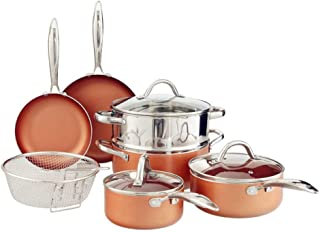 Benecook 10-Piece Nonstick Copper Cookware Set, Dishwasher Safe