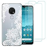 Case for Nokia 7.2 / Nokia 6.2,Flower 383 clear Soft