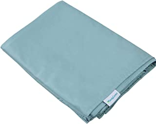 DensityComfort Duvet Cover for Weighted Blanket | Adult 60x80 | Cooling Bamboo | Mint Blue | Machine Washable