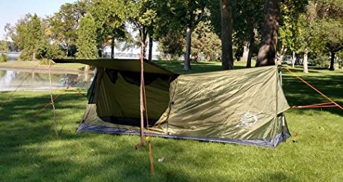 River Country Products Trekker Tent 1A, One Person Trekking Pole Tent, Ultralight Backpacking Tent Green