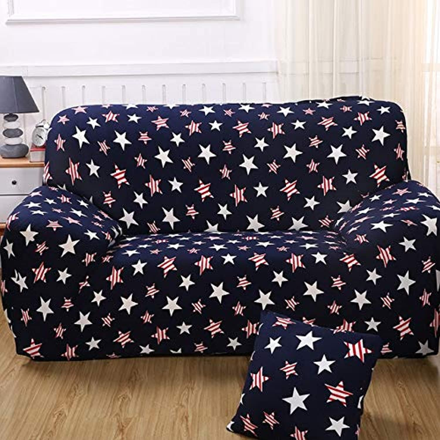 Universal Sofa Cover for Chair Armchair Corner Sofa Stretch Elastic Couch Covers L Shaped Sofa Slipcover Living Room SC007-1   8, 2 Seater