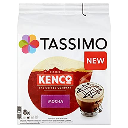 TASSIMO Kenco Mocha Coffee Capsules Refills T-Discs Pods 5 Pack, 40 Drinks