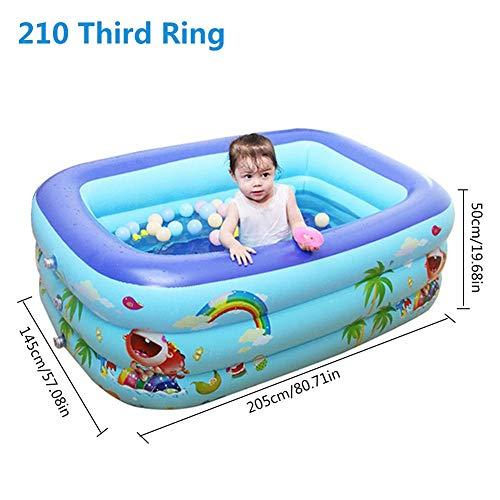 xlcukx - Piscina hinchable gruesa duradera y segura para niños, adultos, bebés, look de good, 150 Dritter Ring