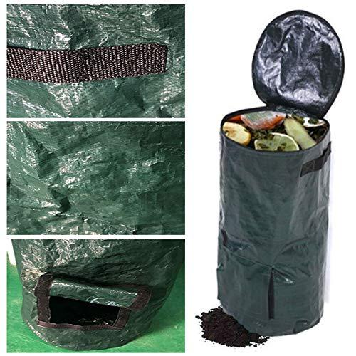 Best Deals! Finly Garden Waste Bags Reusable, Reusable Yard Waste Bags Heavy Duty – Gardening Bags with Lids – Lawn Pool Garden Leaf Waste Bag – Amatory Leaf Bag (1Pcs)