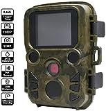 Nfudishpu Caméra de Chasse Vitesse de déclenchement de 0,45 s et étanche IP66 - Caméra de Surveillance de la Faune - 500 W - HD - pour la Surveillance de la Maison