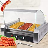 Safstar Commercial 30 Hot Dog 11 Roller Machine Stainless Steel Non...