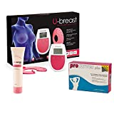 U-breast + Procurves Plus e Cream: Elettrostimolatore, pillole e crema per aumentare il se...