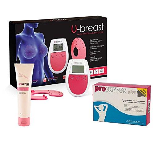 U-Breast - Pack natural para el aumento de pecho con 3 métodos naturales muy efectivos