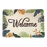 YRUGS Front Entrance Welcome Door Mats for Indoor Outdoor, Durable Washable Garage Patio High Traffic Entry Areas Shoe Rugs, PVC Rubber Non Slip Anti-Fatigue Bath Garden Doormat