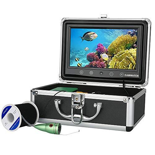 XINTONGSPP Buscador de Peces bajo el Agua, Kit de cámara de Video de Pesca de 9 Pulgadas HD de 9 Pulgadas 1000tvl 6 PCS Luces de lámpara infrarroja con Monitor de Color,20m