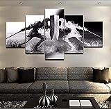 XLST Wandkunst Wikinger Bilder Home Decor 5 Stücke Legend of Zelda Leinwand Malerei Wohnzimmer HD Gedruckt Cartoon Spiel Poster,B,30x40x2+30x60x2+30x80x1