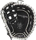 Rawlings PROTM8SB-17BG Heart of The Hide Catcher's Fastpitch Softball Glove, Black, 33'