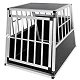 Elightry Transportín Perro de Aluminio Transporte de Viaje para Perros Gatos Mascotas 1 Puerta Negro YDLGL0001sz