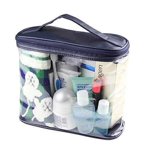 Mingstong Sac cosmétique-2 pcs Sac de Lavage Transparent, Sac cosmétique de Grande capacité, Sac à Main, Sac de Rangement de Voyage pour Hommes