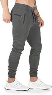 AOTORR Men's Slim Fit Joggers Casual Slim Sweatpants Workout Running Track Pants with Zipper Pockets