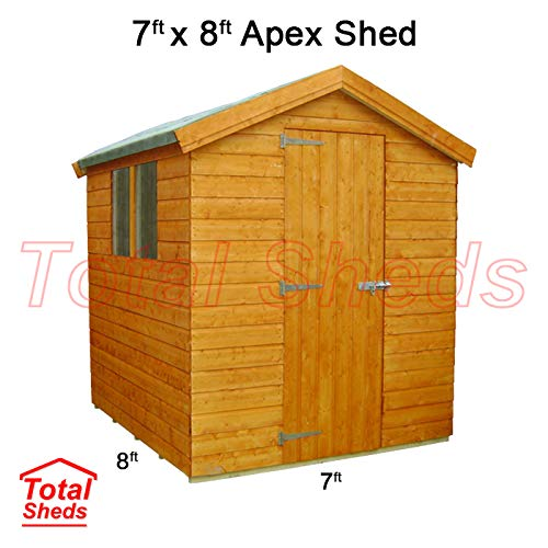 Total Sheds 8ft (2.4m) x 7ft (2.1m) Shed Apex Shed Garden Shed Timber Shed