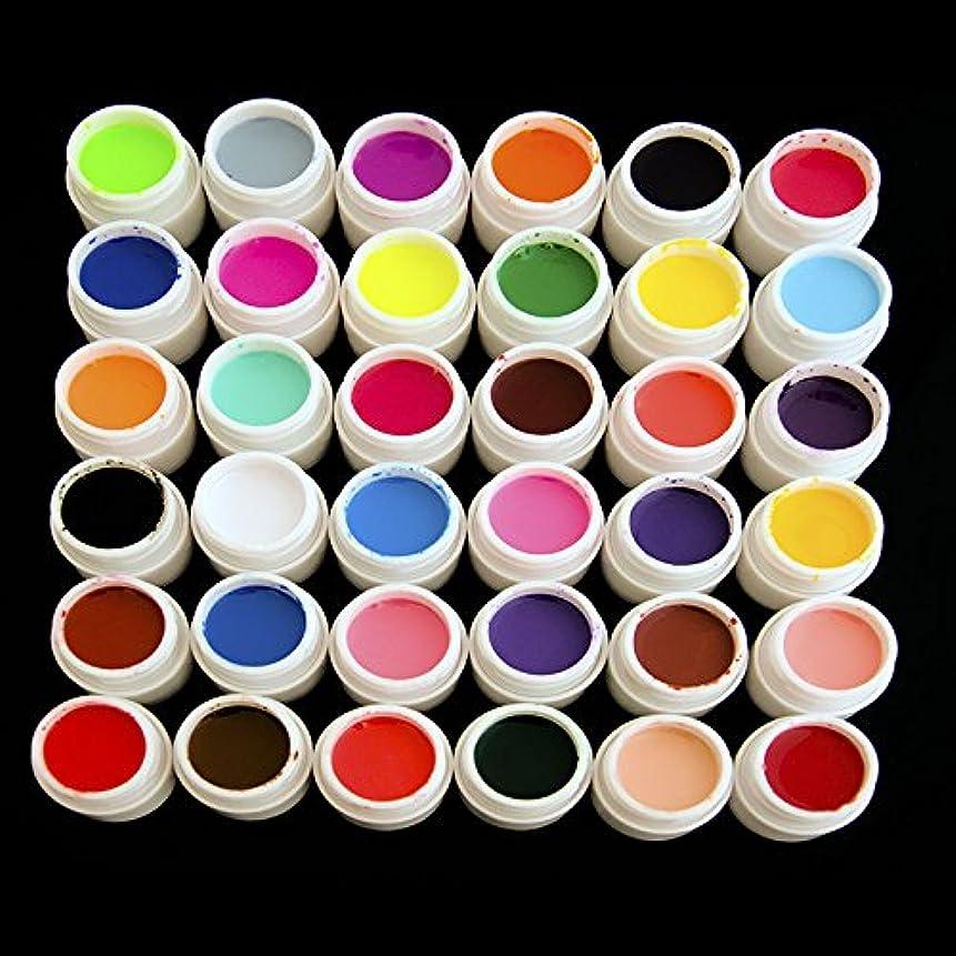 舗装する番号先住民36瓶 多種カバーカラーUVジェル アクリル材料 ポリッシュ セット ネイルアート ヒント マニキュア