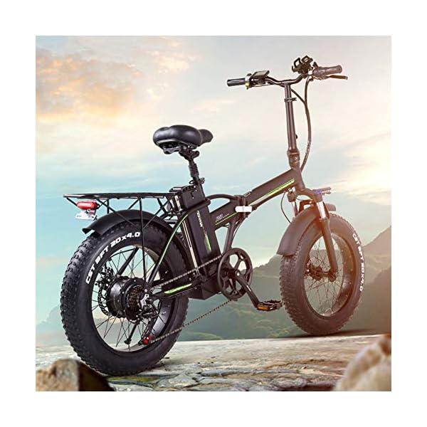 51dshE5YI L. SS600  - TANCEQI Elektrofahrrad Mountainbike E-Bike Elektrisches Fahrrad Falträder Elektrofahrräder Für Erwachsene, 48V 350W 10Ah Legierung Ebike Fahrräder All Terrain Stoßfest, Für Männer Frauen
