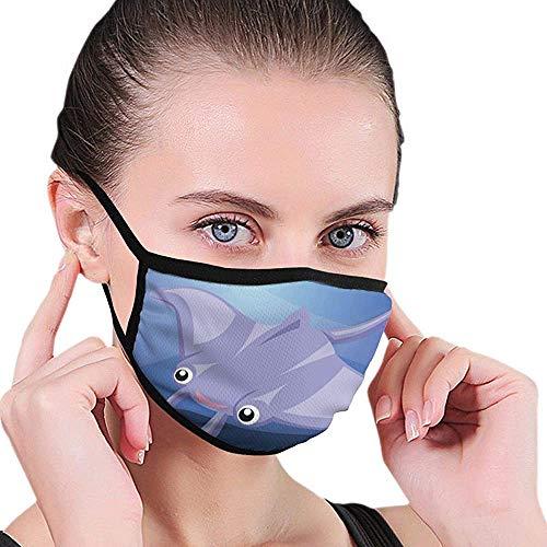 Maske Stingray Fisch Unter Wasser Gesichtsmaskenabdeckung Wiederverwendbare Winddichte Halbgesichtsmund Warme Masken Für Ski Fahrrad Fahrrad Motorrad