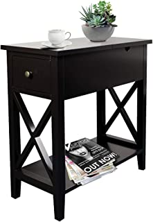 Best narrow white end table Reviews