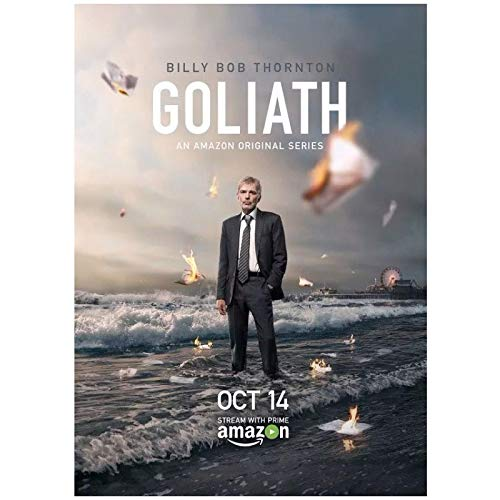 Qqwiter Goliath Billy Bob Thornton Serie TV Poster e Stampe Art Poster Canvas Painting Home Decor Stampa su Tela -50x70cm No Frame