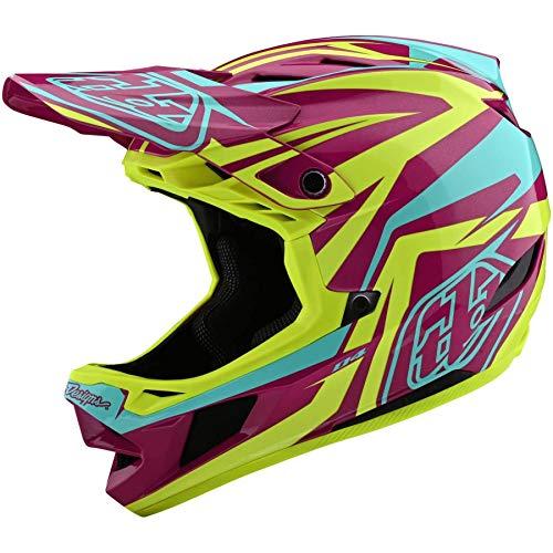 Troy Lee Designs D4 Casque composite MIPS Slash Violet/jaune Taille S BMX VTT DH Downhill
