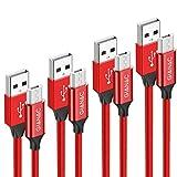 Cable Micro USB,4 Pack [0.5m+1m+2m+3m] Trenzado de Nylon Cable Carga Rápida y...