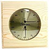 """Weigand Sauna Thermometer Hygrometer """"PUU"""" I Nachjustierbare Kombination I Klimamesser in schönem Holzrahmen I Saunazubehör -"""