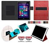 Hülle für Hewlett Packard Pro Tablet 608 Tasche Cover Hülle Bumper   in Rot Leder   Testsieger