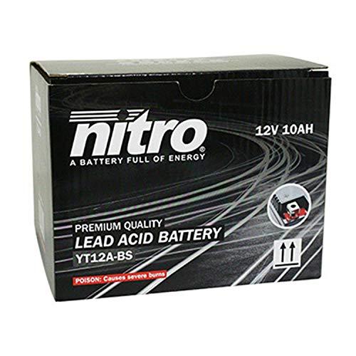 YT12A-BS Nitro accu, 12 V, 10 Ah, onderhoudsvrij, incl. zuurpak (LxL69xH130)