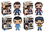 "Funko POP! Supernatural: Sam + Dean+ Castiel ""Steve"" + Bobby Singer - Set NEW..."