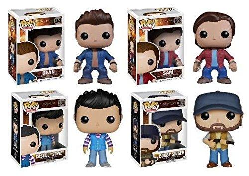 Funko POP! Supernatural: Sam + Dean+ Castiel 'Steve' + Bobby Singer - Set NEW