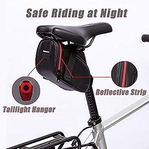 Bolsa de sillín de BicicletaBolsas de Bicicleta con cinturón Reflectante,Aire Libre Ciclismo Montaña Bicicleta Asiento Trasero Paquete,Bolsa para Sillín de Bicicleta impermeable Bolsa de Ciclismo
