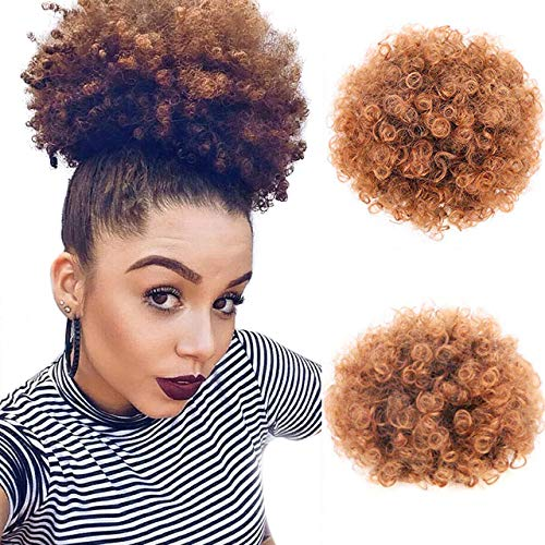 Aafro Ponytail Extension Synthetic Short Kinkys Curly Afro Puff Drawstring...