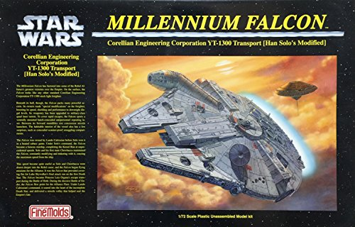 Star Wars Millennium Falcon Japanese Collectible 1/72-Scale Model Kit (japan import)