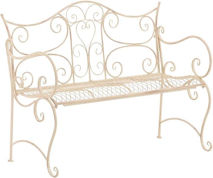 Panchina da giardino tara in ferro laccato i panchina da esterno stile rustico nostalgico clp 11362993