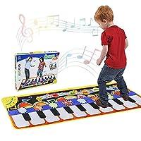 wangten ピアノマット 音楽マット ミュージックピアノマット ピアノおもちゃ 知育玩具 ピアノ演奏マット 音楽おもちゃ 鍵盤 キッズピアノ 子供教育玩具 電子ピアノ