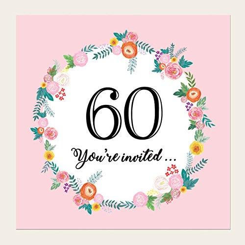 60th Birthday Invites Amazoncouk